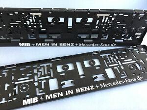 1 Paar MIB  MEN IN BENZ  Kennzeichenhalter für EU Kennzeichen 520 x 110 mm