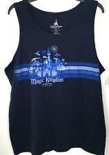 Disney Parks Store Magic Kingdom Mens Tank Top Xl Navy Blue Nwt