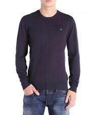 NWT Diesel K-Manikylogo Midnight Blue Pullover Sweater - Medium
