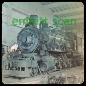 Original Slide, CL&R Comox Logging & Railway 2-8-2 Steam #11 Ladysmith BC, 1960