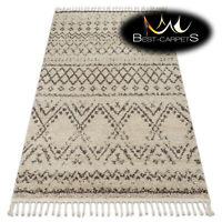 "Amazing Modern shaggy RUGS ""BERBER"" Rabat cream brown etno oriental Best Quality"