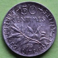 FRANCE 50 CENTIMES SEMEUSE 1915