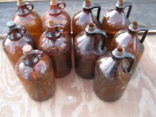 10 pcs Vintage Used Brown Empty Bottle Half Gallon Clorox Bottles