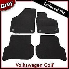 VW Golf Plus 2005-2013 Round Eyelets Fully Tailored Carpet Car Floor Mats GREY