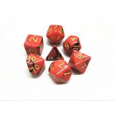 HD DICE rpg Red Black Blend 7 dice set D&D new!!!