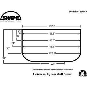 Universal Fit Window Well Cover Plastic Fire Egress 400lb Capacity 44 X 38 in