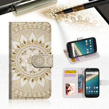 White AZTEC TRIBAL Phone Wallet Case Cover For Alcatel Pop Star -- A006