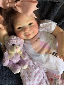 Sweet Reborn Baby GIRL Doll CHLOE was Eliza by Donna RuBert COMPLETED baby