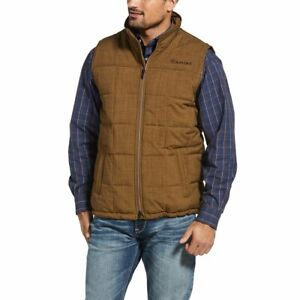 Ariat Mens Crius Insulated Vest - Field Khaki Heather  - Sizes S to 2XL