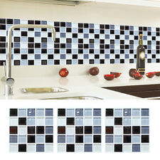 6Pcs Mosaic Self-adhesive Bathroom Kitchen Decor Wall Stair Tile Stick VSY