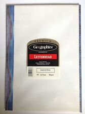 A4 Writing Paper 25 Sheets Geographics Imperial Silver.  **SEE OUR EBAY SHOP**