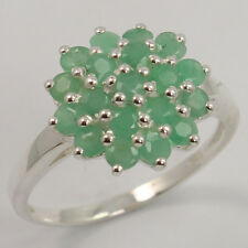 Real EMERALD Gemstone 925 Sterling Silver Extraordinary Ring Size US 7 Exporter