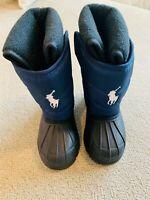 Polo Ralph Lauren Kids Snow Boots Navy Blue Black Size 6