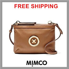 Mimco Leather MIM Supernatural Couch Hip Across body Hand Bag Brand New Honey DF
