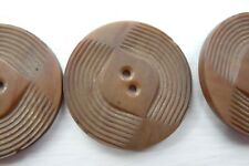 Set 6 Vintage Deco Retro Brown Buttons 3.5 Cms