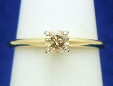 1/4ct DIAMOND SOLITAIRE ENGAGEMENT RING SOLID 14K GOLD 1.4g SIZE 4.25