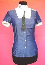camicia da donna della CAVALLERIA TOSCANA molto elegante tessuto in contrasto