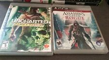 2 PS3 Games Uncharted Drake's Fortune & Assassin Creed Rogue Sony PlayStation 3