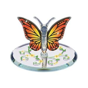Glass Baron Handcrafted Beautiful Monarch Butterfly Collection Figurine