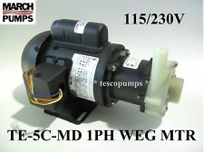 March pump TE-5C-MD 1 Phase 115/230V TEFC WEG MOTOR
