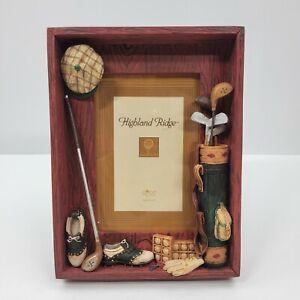 Highland Ridge Russ Berrie & Co 3D Golf Picture Frame 4X6 Desktop Handpainted