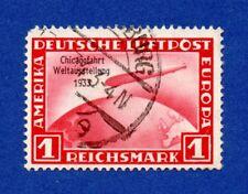 DR 1933 Mi 496 o/Used Luftschiff Zeppelin, Weltausstellung in Chicago Mi 500,-