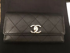 Chanel 19B Medium Flap Wallet New Black