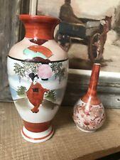 Couple Of Antique Chinese Imari Vases