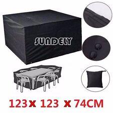 Heavy Duty Waterproof Rattan Cube Outdoor Garden Furniture Dust UV Rain Cover UK