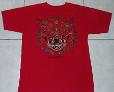 HARD ROCK CAFE T Shirt (M) Medium Baltimore Maryland Red ravens orioles guitar