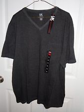 UK Style French Connection Black/Gray V-Neck Pocket T-shirt - XL - NWT
