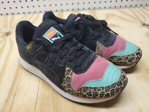 PUMA RS100 370802-01 Shoes Cheetah Pink Teal Black-4C,22cm, eur35.5,uk3