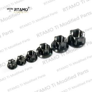 RTAMO   M5 M6 M8 M10 M12 M14 Gr5 Titanium Alloy Hex Flange Special Spec Pot Nuts