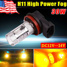 1X Yita- Amber Yellow H11 30W High Power LED Fog / Driving DRL Lights DC12V-24V