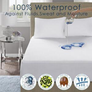 IMFAA 30cm  Deep MATTRESS Protector,100% waterproof, Non noisy, Bug proof.