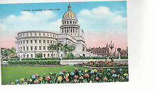 Capitol Building  with Gardens    Havana  Cuba  Unused Linen Postcard 8214