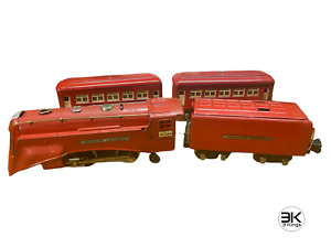 Lionel 264E RED Commodore Vanderbilt Steam Engine 265W Tender Pullman Cars 603