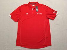 ADIDAS Mens Orange Mercer University SS Embroidered Casual Golf Shirt, Sz L, NWT