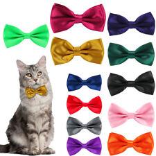 Cat Bow Tie Adjustable Pre Tied Dickie Pet Collar Animal Neck Kitty Feline Nylon