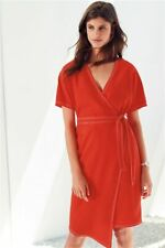 NEXT Red Wrap Dress Size 12 | Crepe Style | £42 RRP | BNWT | Brand New