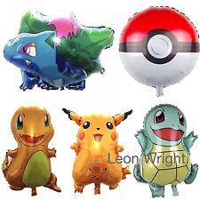 5 Pack Of Pokemon Balloons Birthday Party Decoration Cartoon Pikachu Bulbasaur