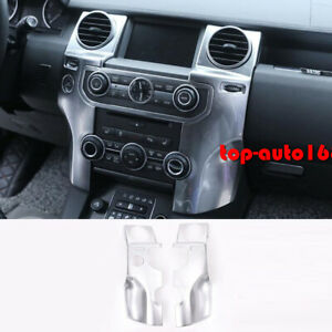Matt Silver Center Air Vent Outlet Cover Trim For Land Rover Discovery 4 2010-16