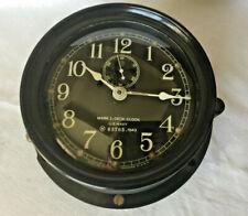 1943 U.S. Navy Mark I Deck Clock #63765 by Seth Thomas Bakelite/Convex Glass Big