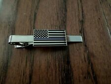 POLICE THIN BLUE LINE U.S.A FLAG TIE BAR TIE TAC AMERICAN HONOR FLAG U.S.A MADE