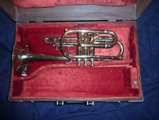 Getzen 300 Series Elkhorn WIS USA Cornet and King Cleveland Case(Repair)