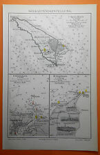 SEEKARTE Helgoland  Stettiner Haff Swinemünde Skagen  Küste Segeln Seekarte 1897