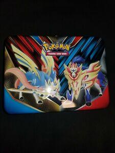 Pokemon lunch box tin W/ 3 Holo cards & Extras