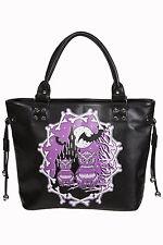 """Banned """"Secret Obsession"""" Owls & Castle Handbag School Shoulder Bag Black"""