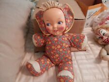 Vintage doll 1940's Plastic Face Cloth Doll