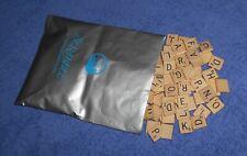 Scrabble Wooden Letter Tiles + Racks + Bag Set ~ Replacement Game Pieces Lot